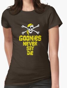 Goonies distressed .  Womens Fitted T-Shirt