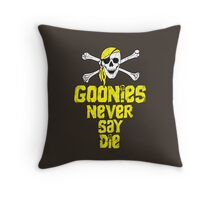 Goonies distressed .  Throw Pillow