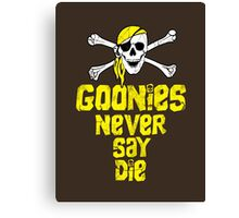 Goonies distressed .  Canvas Print
