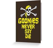 Goonies distressed .  Greeting Card