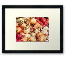 Onions Closeup Framed Print