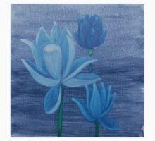 Three Blue Lotus Flowers Kids Clothes