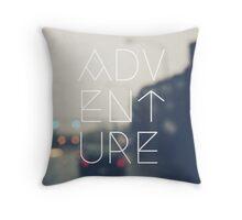 Blurry Adventures Throw Pillow