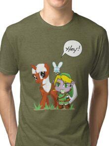 The Legend of Zeldestia Tri-blend T-Shirt