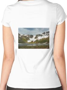 Summit Lake Glacier  Women's Fitted Scoop T-Shirt