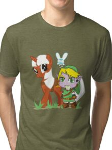 The Legend of Zeldestia (no text version) Tri-blend T-Shirt