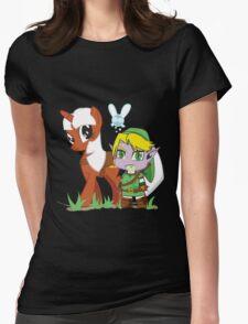 The Legend of Zeldestia (no text version) Womens Fitted T-Shirt