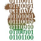 squirrel binary code nature animal design by Veera Pfaffli