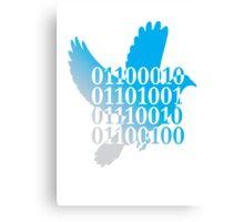 bird binary code dove peace design Canvas Print