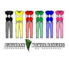 Suburban Power Rangers Photographic Print