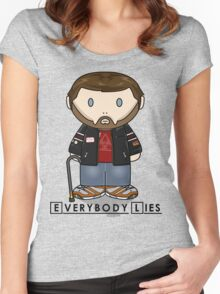 Dr House - Everybody Lies - Minifolk Design Women's Fitted Scoop T-Shirt