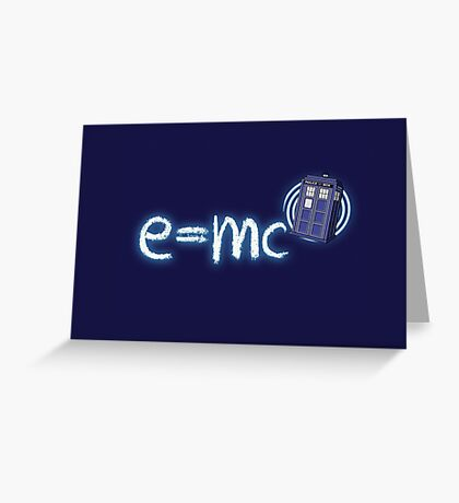 Relativity of Space and Time Greeting Card