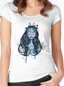 Watercolor Corpse Bride Women's Fitted Scoop T-Shirt