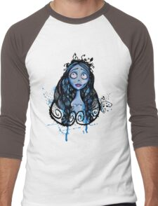 Watercolor Corpse Bride Men's Baseball ¾ T-Shirt