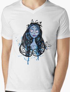 Watercolor Corpse Bride Mens V-Neck T-Shirt