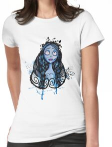 Watercolor Corpse Bride Womens Fitted T-Shirt