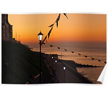 As the sun sets on Cromer Poster