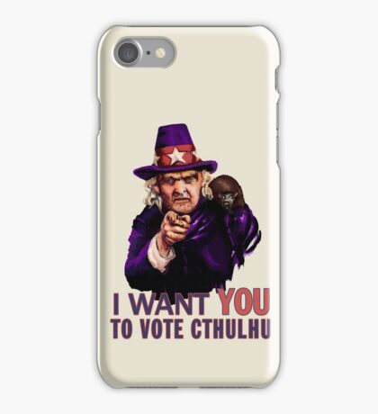 Aunt Keziah: Vote Cthulhu for President iPhone Case/Skin