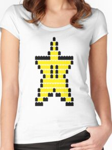 Mario Star Item Women's Fitted Scoop T-Shirt