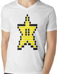 Mario Star Item Mens V-Neck T-Shirt
