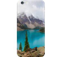 Panoramic of Moraine Lake in the Canadian Rockies iPhone Case/Skin