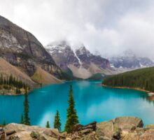 Panoramic of Moraine Lake in the Canadian Rockies Sticker