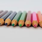 colourful pencils by Alice Thorpe