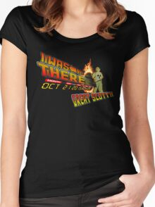 Back to the future day - Great scott!! Women's Fitted Scoop T-Shirt