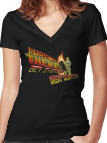 Back to the future day - Great scott!! Women's Fitted V-Neck T-Shirt