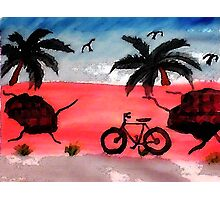 The Old  pink walll  #2,, a series, watercolor Photographic Print