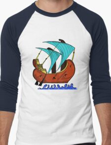 Byzantine Ship Men's Baseball ¾ T-Shirt