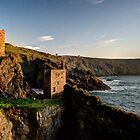 Crown Tin Mines at sunset by Rob Hawkins