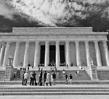 Lincoln Memorial in black and white by Lori Coleman