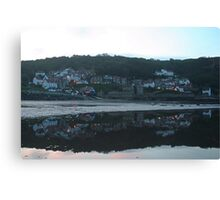 Evening reflections at Runswick Bay Canvas Print