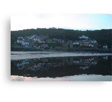 Evening reflections at Runswick Bay Canvas Print