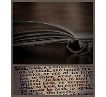 ~book~ Photographic Print