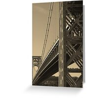 York to Jersey: The George Washington Bridge Greeting Card