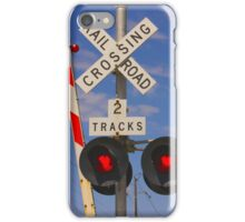 Trains - Railroad Crossing iPhone Case/Skin