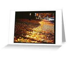 Street leaves  Greeting Card