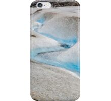 Glacial stream on the Athabasca Glacier in Canada iPhone Case/Skin