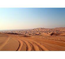 Desert Tracks Photographic Print