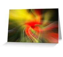 Twirl art from a poppy picture  Greeting Card