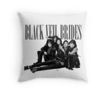 Black Veil Brides B&W Photo Throw Pillow