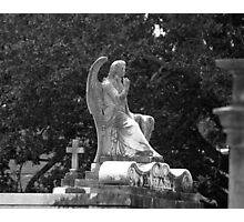 Cemetery Statue Photographic Print