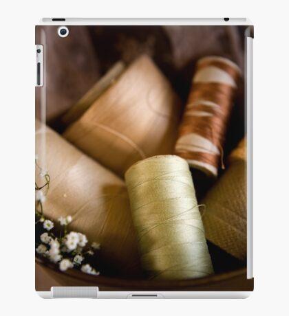 Antique Sewing Thread iPad Case/Skin