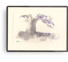 """Morning Mist""   Sumi e wash painting Metal Print"