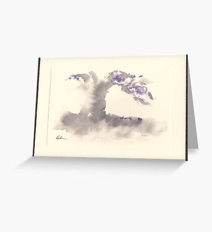 """Morning Mist""   Sumi e wash painting Greeting Card"
