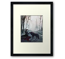 The Queen and the Wolf (Once Upon a Time) Framed Print
