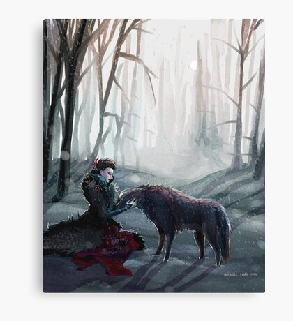 The Queen and the Wolf (Once Upon a Time) Canvas Print