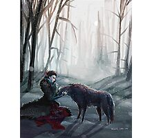 The Queen and the Wolf (Once Upon a Time) Photographic Print